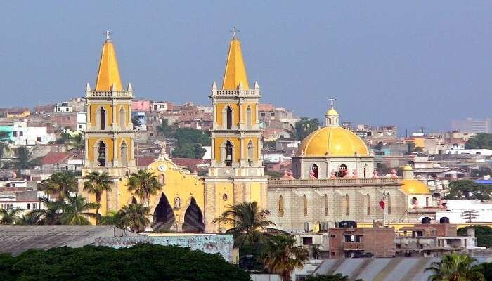 Mazatlan Cathedral in mexico
