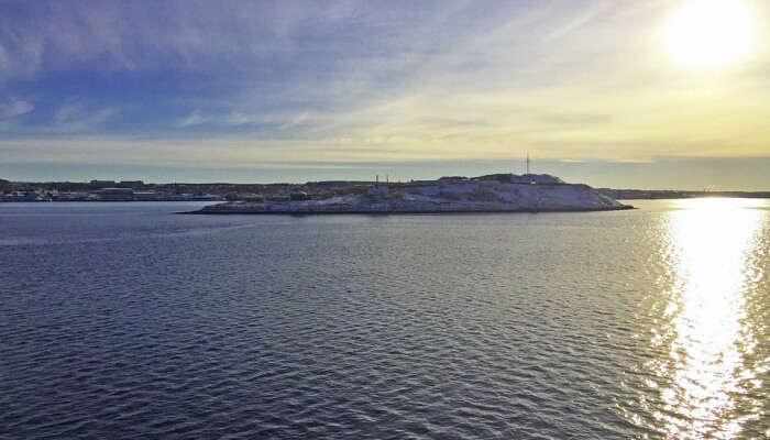 Sun Georges Island Harbour Nova Scotia Halifax