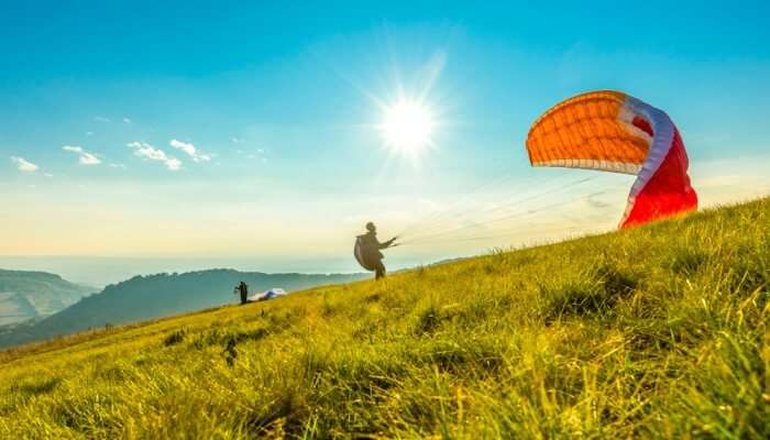 Paragliding in Box Canyon