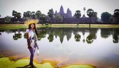 Priya at Angkor Wat