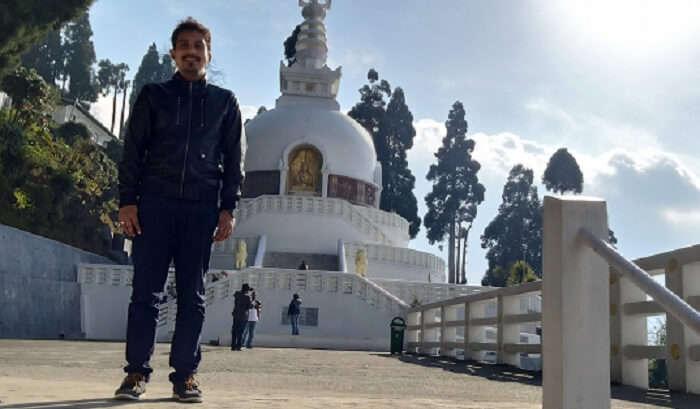 visit to Peace Pagoda in Darjeeling