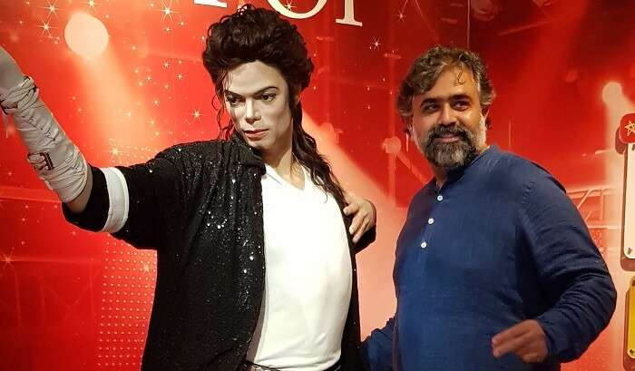 at the madame tussauds of Hong Kong