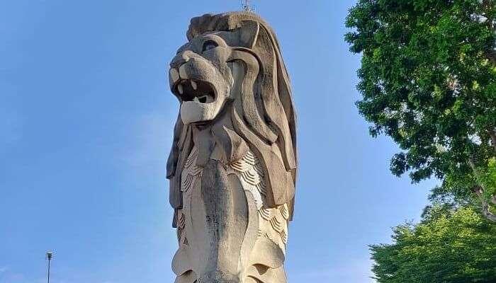 Sentosa Merilion Statue