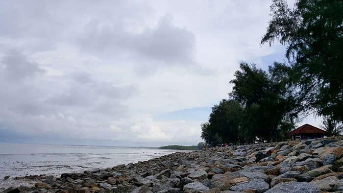 Morib beach view