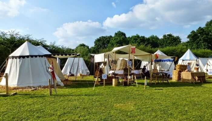 Bell Tent With Fan
