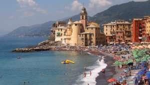 Camogli Beach in Italy