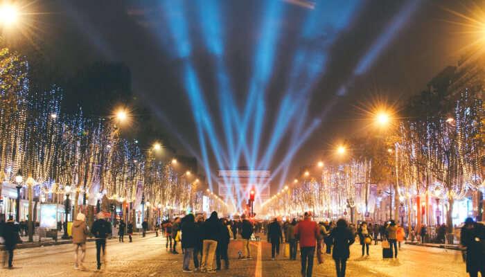 Champs Elysees in Paris