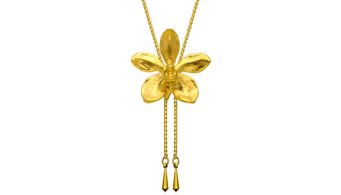 Gold Plated Orchid Ornaments of Singapore