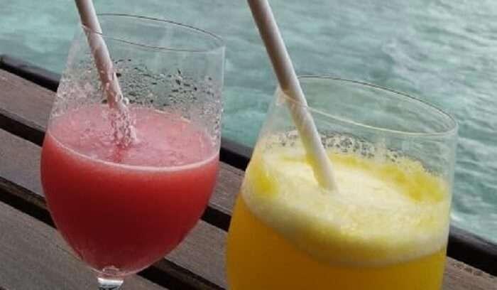 enjoyed the refreshing drink