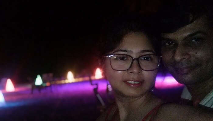 enjoyed the night view at the beach