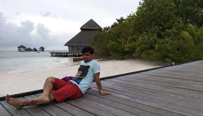 a beach facing resort
