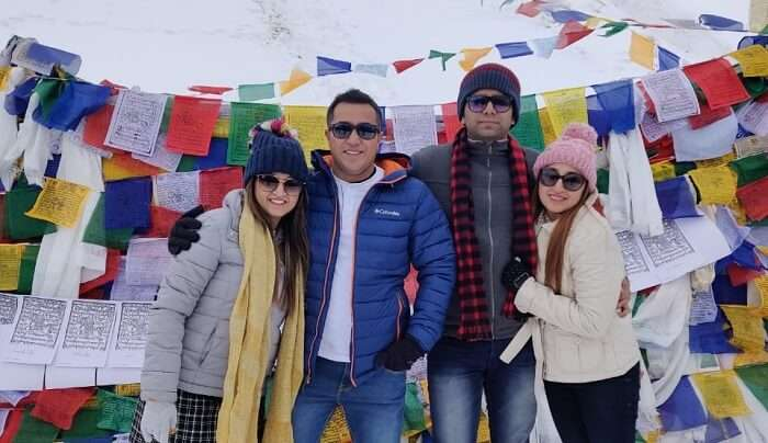 Leh Ladakh was still cold