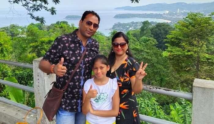 enjoying the tour with family