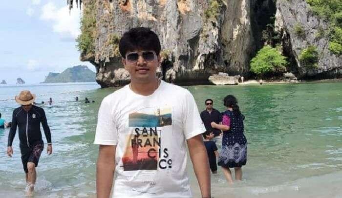 me Giving Pose At Phi Phi Island