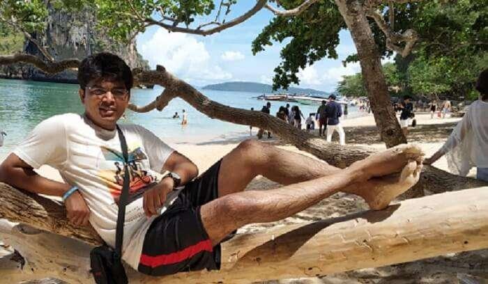 Relaxing at beach
