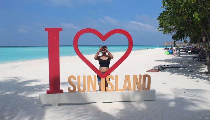 at the sun island resort