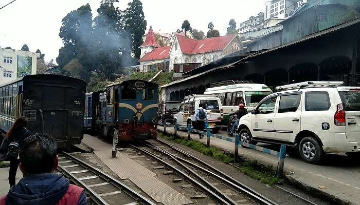 our ride on the toy train in Darjeeling