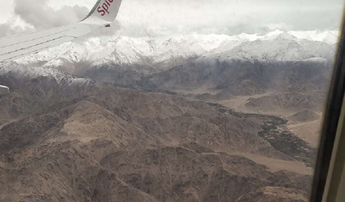 panoramic view of Leh