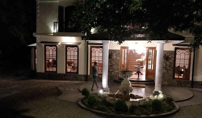 night lights in resort