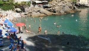 San Fruttuoso Beach in Italy