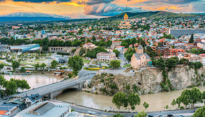 the walled city of Tbilisi
