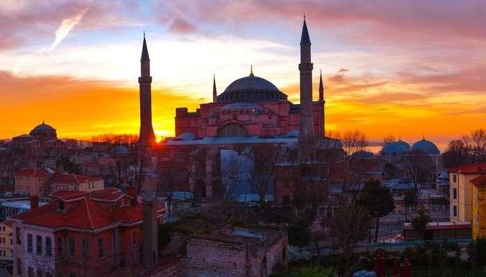 Turkey Travel Sunset Cami Istanbul