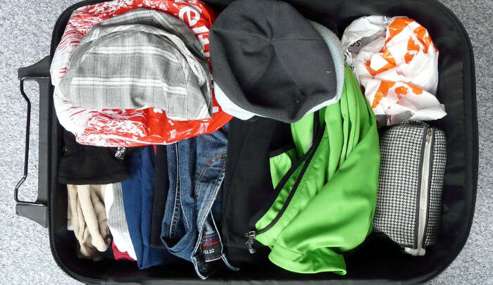 Clothes in luggage