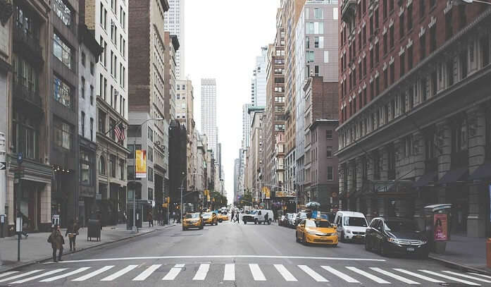 City New York Nyc Downtown Roads Streets