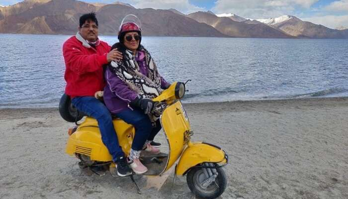 had fun at Pangong Lake