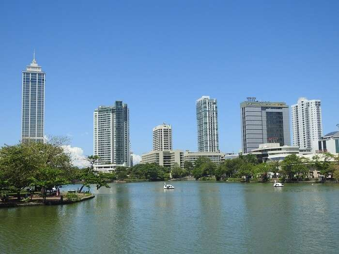A view of Colombo skyline