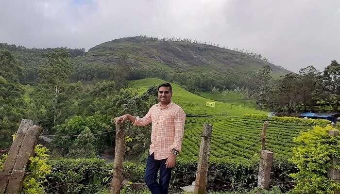 at the tea plantations of Munnar