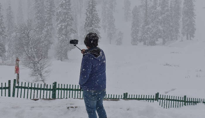 capturing the snow covered valleys