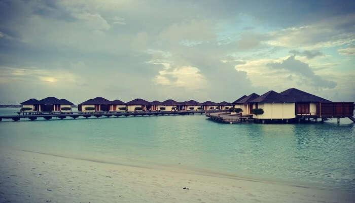 luxurious water villas