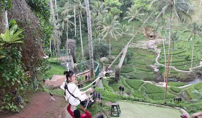 swings in bali is a great activitiy