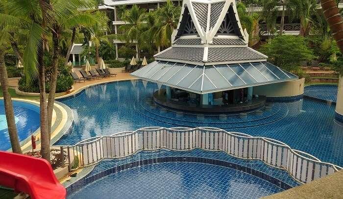 pool side in Krabi Thai Village Resort