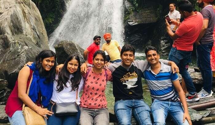 at Bhagsunag Waterfall