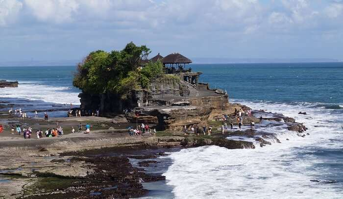 view of Tanah lot temple