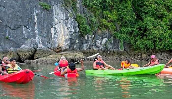 Kayaking in the bay