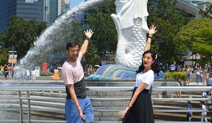 symbolic attraction Merlion Statue