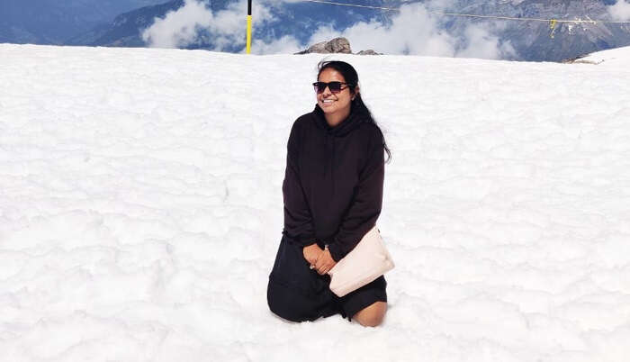enjoyed snow at Mount Titlis