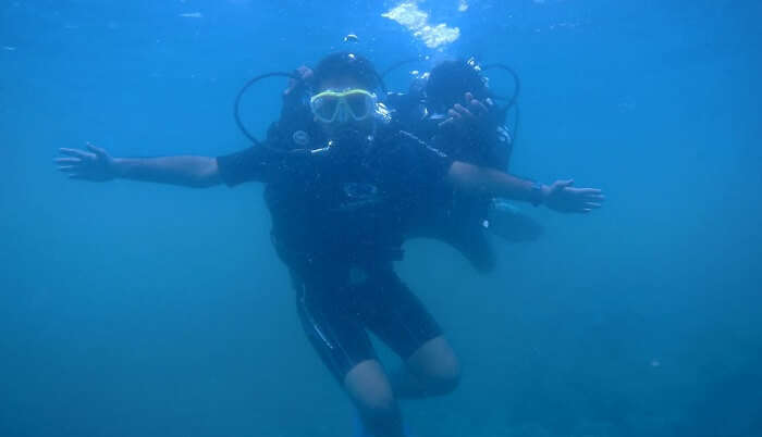 great fun while doing scuba diving