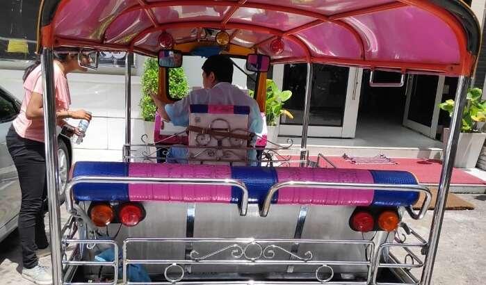 a local rikshaw in thailand