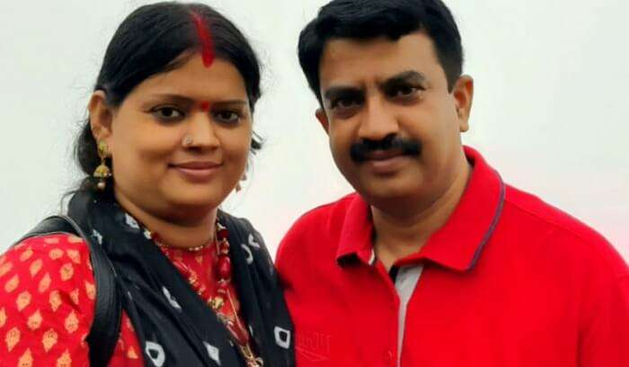 lovely picture with wife