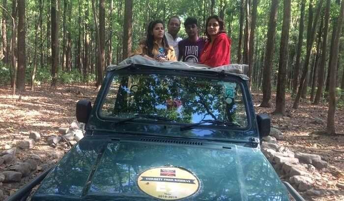family visited the Jim Corbett National Park