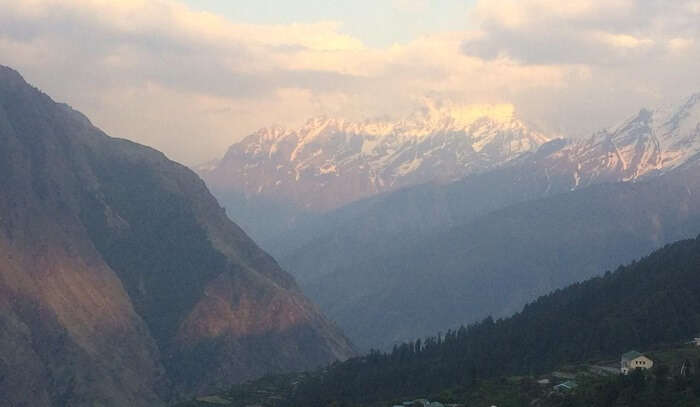 amazing view of mountains in Nainital