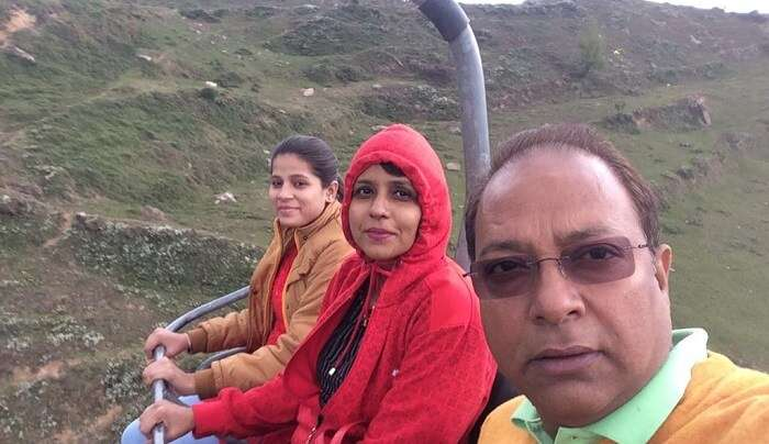 enjoying the trip with family