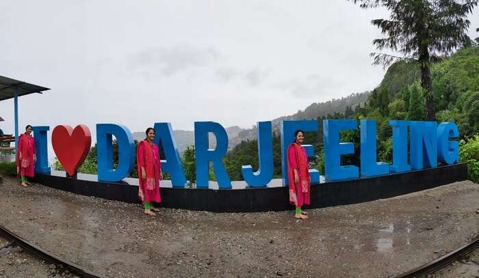 clicked pictures in Darjeeling
