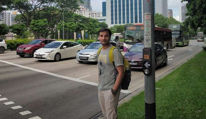 exploring the local streets of Singapore