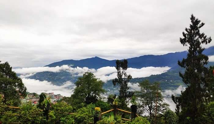 perfect picture of the hills covered with clouds