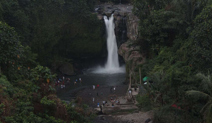 view of the waterfall